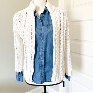 Saks Fifth Avenue Cable Knit Jacket
